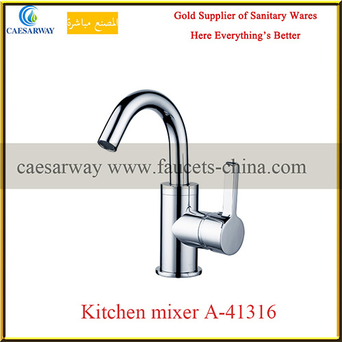 Brass Sanitary Ware Single Lever Kitchen Tap Faucet