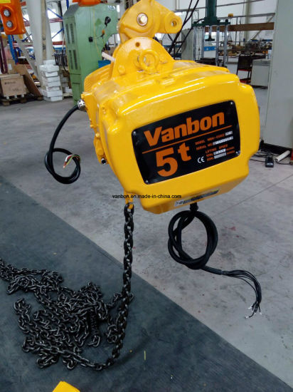 5ton Fixed Type with Hook Electric Chain Hoist pictures & photos