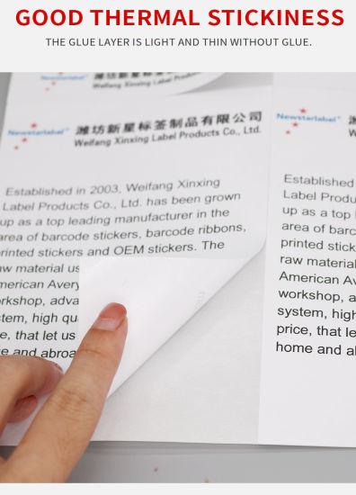 China Half Sheet Self Adhesive Shipping Stickers A4 Laser