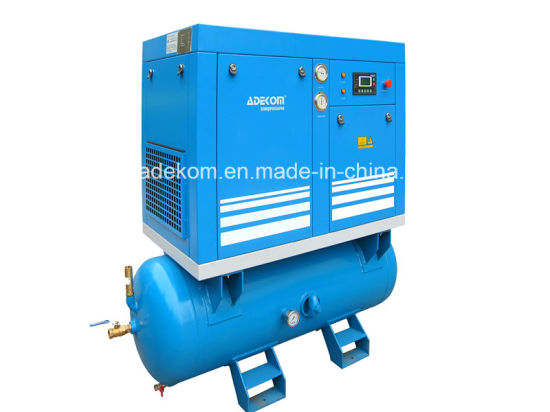 Tank Mounted Screw Stationary Full Feature Air Compressor (KA7-10D/250)