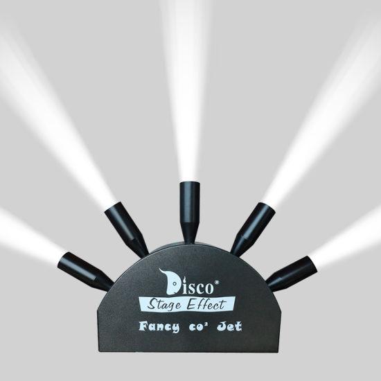 Disco DJ Stage Fancy 5 Head CO2 Jet Machine Five Tube CO2 Spray Cannon Equipment