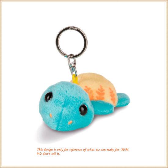 Soft Blue Turtle Key Chain Lovely Ocean Animal Toys OEM
