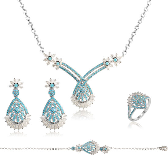 2019 Alibaba Simple Fashion Wedding Bridal Islamic Jewelry Set Women pictures & photos