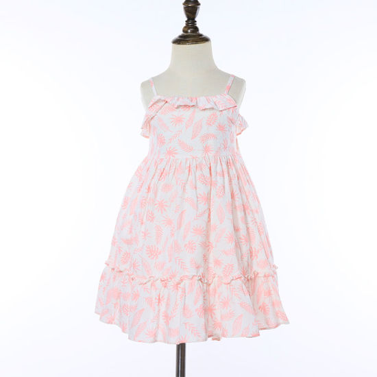New Look Children's Clothing Summer Casual Sleeveless Smocked Dresses Girls Dress for Everyday Wear