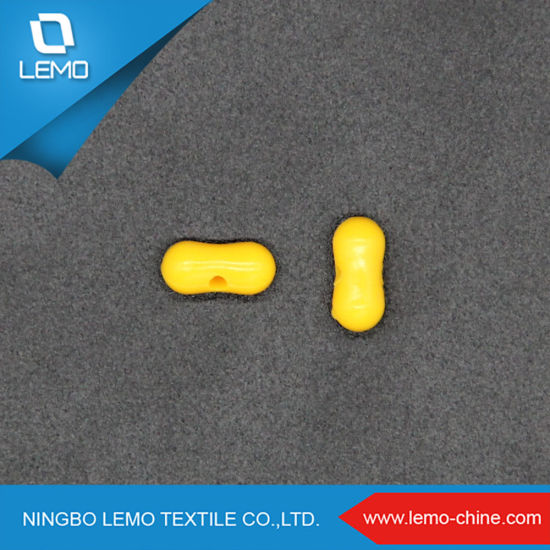New Shape Elliptical Plastic 9mm Yellow Polished Color ABS Beads