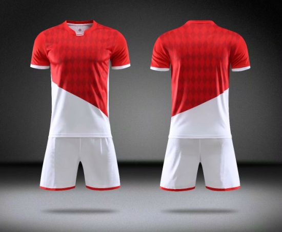 2020 Monaco Home Red and White Soccer Jerseys Wear