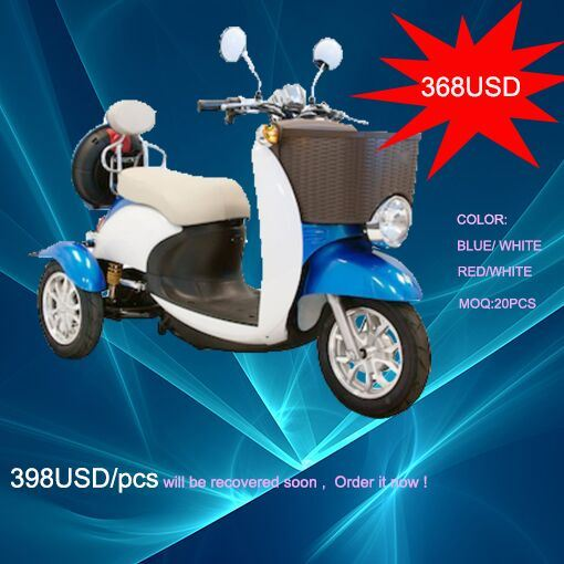 China 500W Disabled 3 Wheel Electric Mobility Scooter with