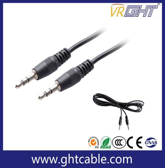 3.0mm to 3.0mm Male to Female Copper Audio Cable pictures & photos