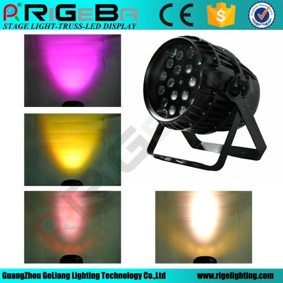 RGBW 4in1 10W18LEDs with Zoom PAR Can Light