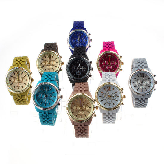 New Geneva Promotional Design Silicone Analog Strap Women Quartz Watch (DC-1150) pictures & photos