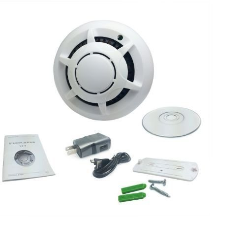P2p Smoke Detector WiFi HD Camera Wireless IP Camera Nanny Video Recorder pictures & photos