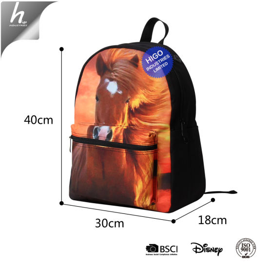32be5e1b1878 Cat 3D Printed Teenage Canvas Laptop Backpack Girls School Bags