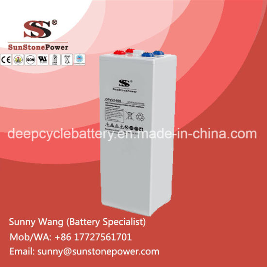 China Deep Cycle Rechargeable Opzv Battery 2V 800ah Tubular Gel