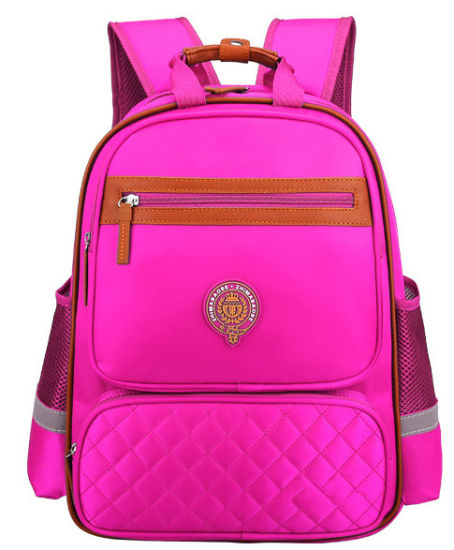 Children S Schoolbag Customized Logo Boy Double Shoulder Bag 1 3 4 6 Grade School Backpack Customization Rose Red