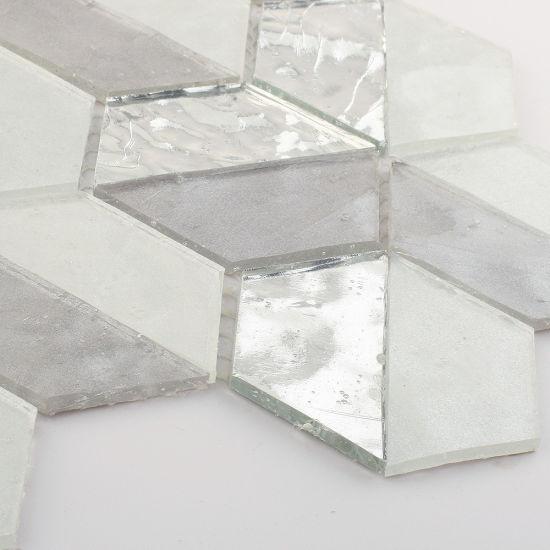 china grey glitter sliver glass tile mosaic sheets for bathroom