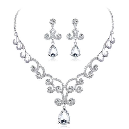 China 2018 New Arrival Bridal Necklace Earrings Jewelry for Wedding