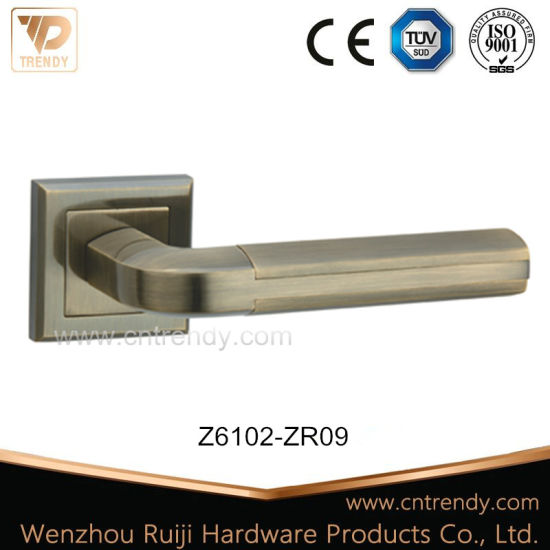 High Precision Zinc Casting Door Lock Handle on Rose (Z6102) pictures & photos