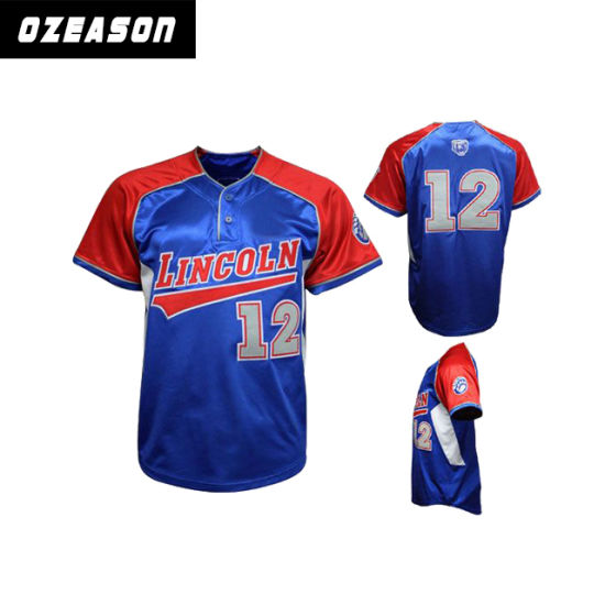 pretty nice 2c819 3ba02 High Quality New Design Custom Cheap Blank Sublimated Baseball Jerseys From  China Supplier (B027)