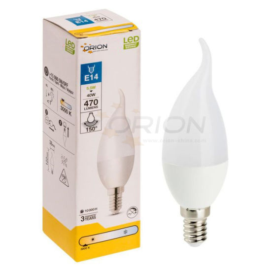 Ce Certified E27 E14 Mini LED Bulb Candle 5W C37 LED Bulb pictures & photos