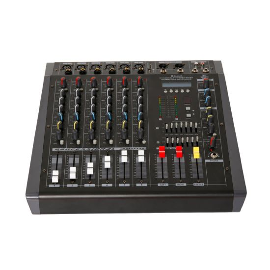 Pmx-6 Professional Audio Pmx Series Powered Mixer with USB, Bluetooth, and MP3 Inputs, Built-in Amplifier 6 Channels 350W (4 ohm X2)