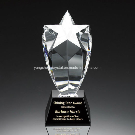 Wholesale Acrylic Crystal Trophy with Five Star pictures & photos