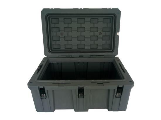 Waterproof Rotational Molding Hard Military Plastic Large Storage Carry Case Rugged Box