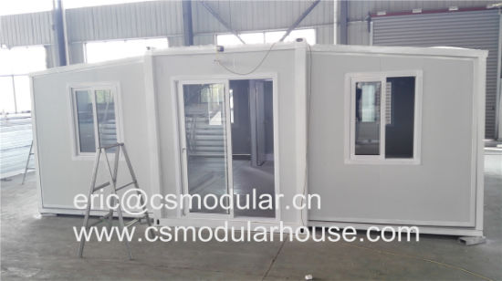 China 20ft Container Expandable Home Prefab Loft House Expandable