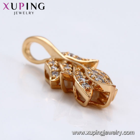32415 Best Selling Crystal L Heart-Shaped Diamond CZ 18K Gold Plated Jewelry Pendant Necklace pictures & photos