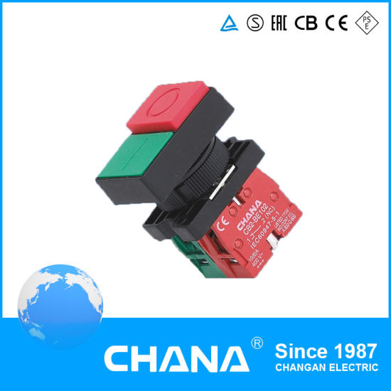 Double Head N/O+N/C CB2 Pushbutton Switch