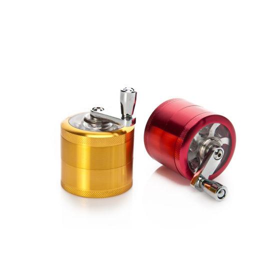 Factory Smoking 40mm Custom Grinder 4 Part Grinder 50mm 55mm 63mm 75mm Smoke Pipe Hand Grinder Custom Black