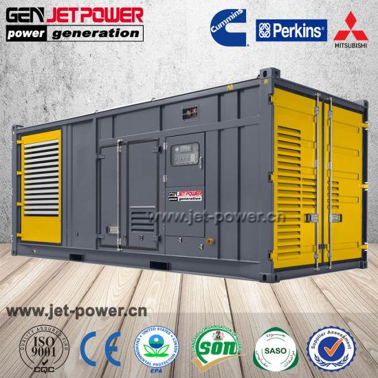 Open Soundproof Weatherproof Container Cummins Perkins 1250kVA 1000kw  Diesel Generator 1 MW