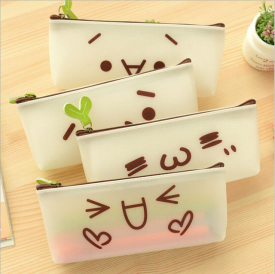 china high quality stationery lovely school pencil cases emoticons