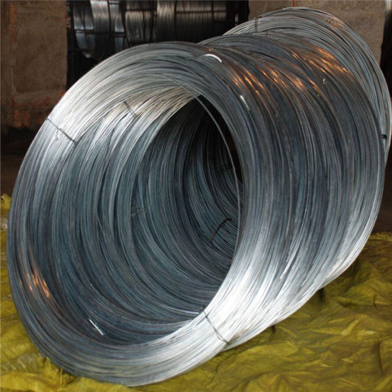 China Shengteng Brand Q195 5.5mm Spring Low Carbon Electric Galvanized Steel Wire