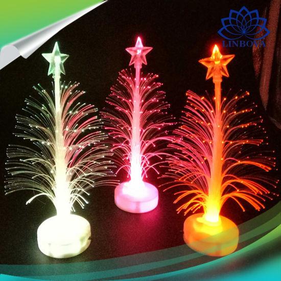 party supplies multicolor led lighting mini christmas tree fiber lights for christmas promotional gift