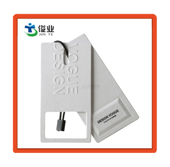 High Quality White Cardboard Hang Tags pictures & photos