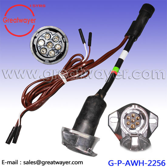 china 12awg 7 pin male adapter 7 pin female trailer wiring harness rh greatwayer en made in china com 4 Wire Trailer Wiring Diagram Six Pin Trailer Wiring Diagram