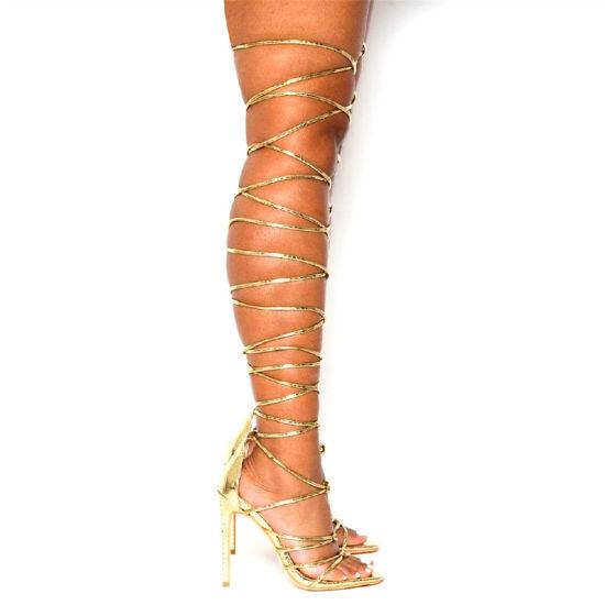 Wholesale Women Shoes Straps Ladies Shoes High Heels Fashion Shoes Sandals