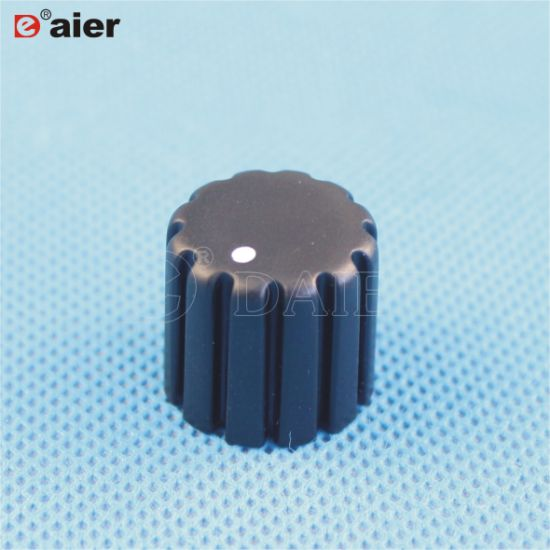 18 Teeth Knurled Rotary Switch Plastic Potentiometer Knob with DOT