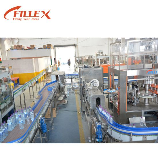 Chain Conveyor Belt System for Mineral Water Bottle