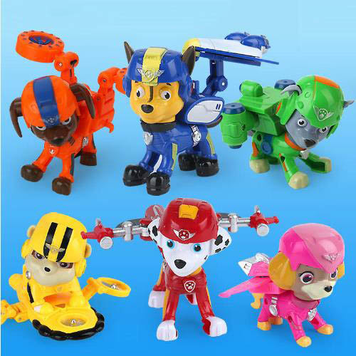 china 2018 popular cartoon dog patrol rescue racers car plastic
