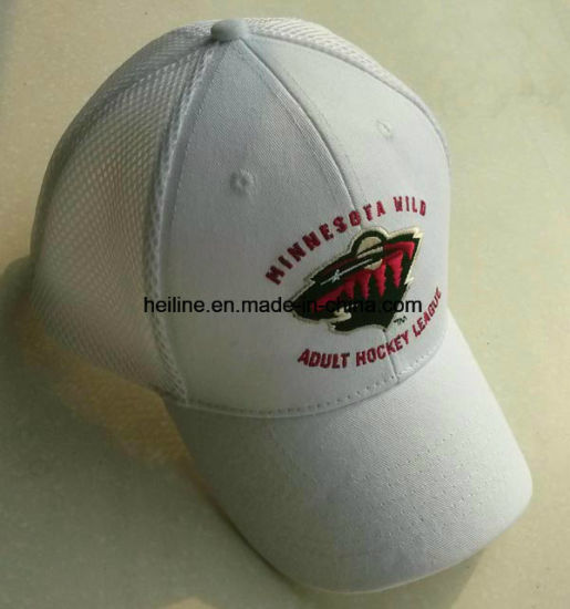 Cotton Twill+Sandwich Mesh Custom Golf Hat pictures & photos