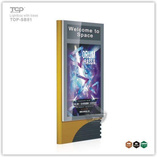 Aluminium Outdoor Two Side Scrolling Light Box with Base pictures & photos