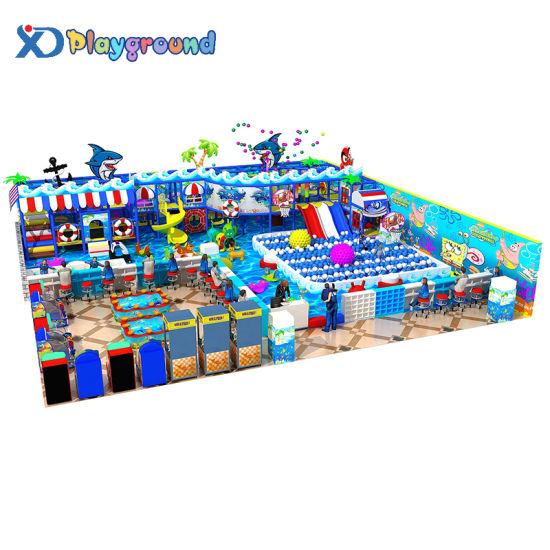 Ocean Themed Amusement Children Soft Indoor Playground Equipment