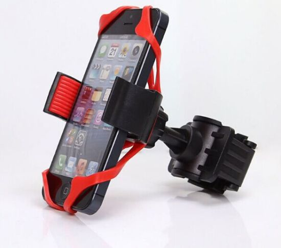 Universal Bicycle Motorcycle Handlebar Mount Holder Mobile Cell Phone Holder with Silicone Support