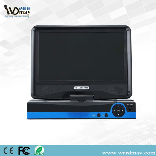 Wdm 8chs 1080n Network Video Surveillance Ahd DVR with 10 Inch LCD Screen pictures & photos