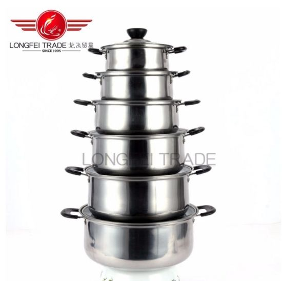 2018 Hot Sale Stainless Steel Cookware Pot Set