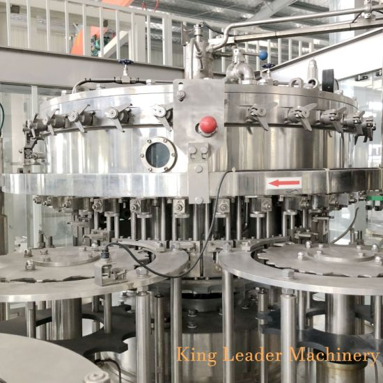 Automatic Soda Soft Beverage Drink Filling Machine with PLC Control