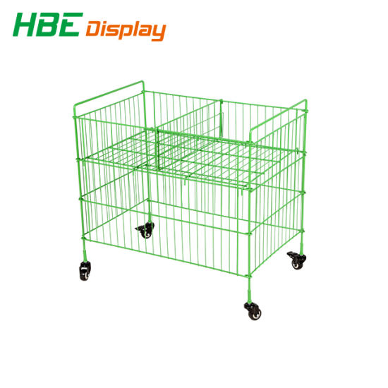 Supermarket Display Stand Wire Mesh Promotion Table pictures & photos