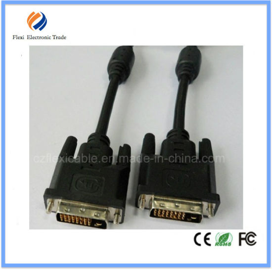 Flexi 6FT Gold Plated 24+1 DVI to DVI Cable Type Dual Link