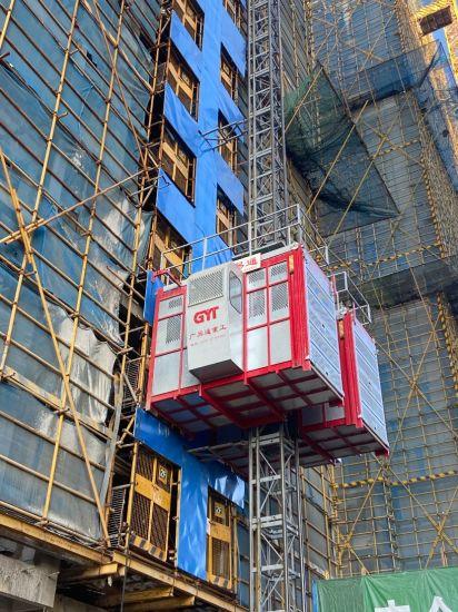Sc200/200 Double Cages Construction Hoist /Building Hoist for Building Construction